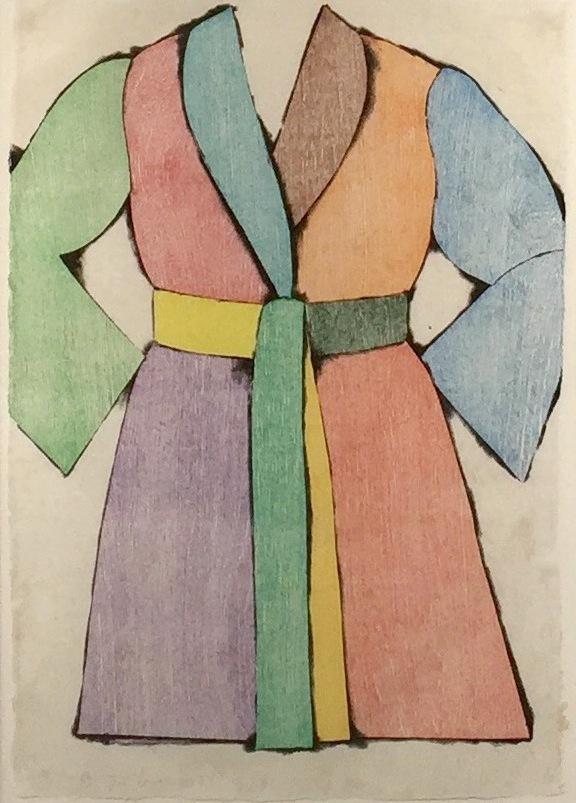 The Woodcut Bathrobe by Jim Dine