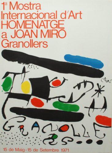 1ª Mostra Internacional D'art Homenatge A Joan Miró Granollers by Joan Miro