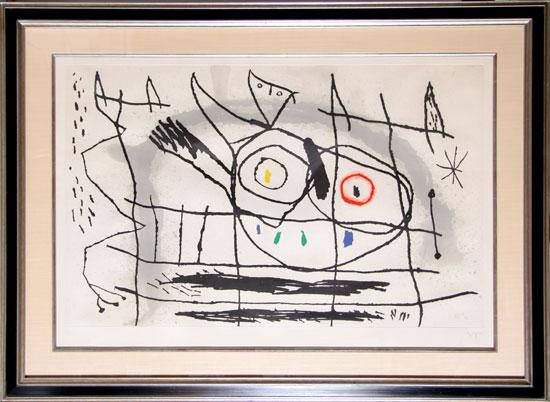 Couple D'oiseaux Ii by Joan Miro at Joan Miro