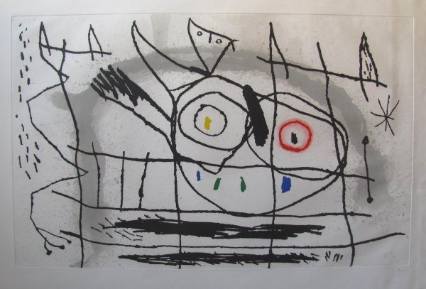 Couple D'oiseaux.ii by Joan Miro at