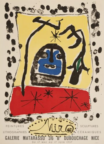 Galerie Matarasso, 1957 by Joan Miro at William Weston Gallery (IFPDA)