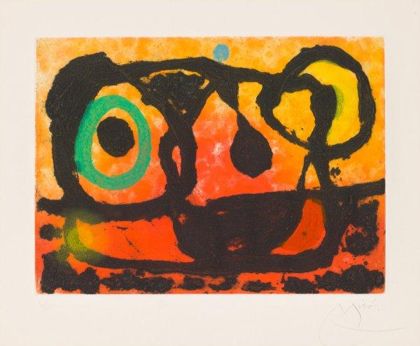 Head Of The Setting Sun by Joan Miro
