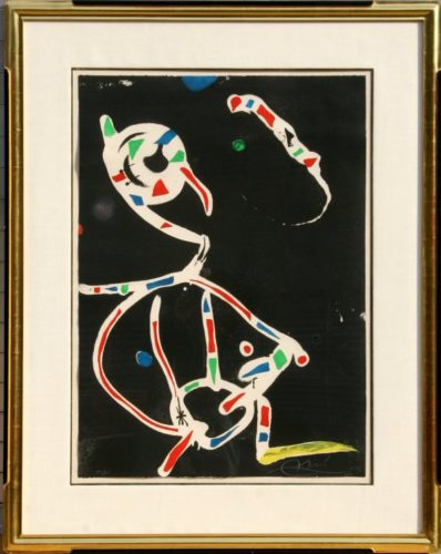 La Traca Iii (fireworks Iii) by Joan Miro at