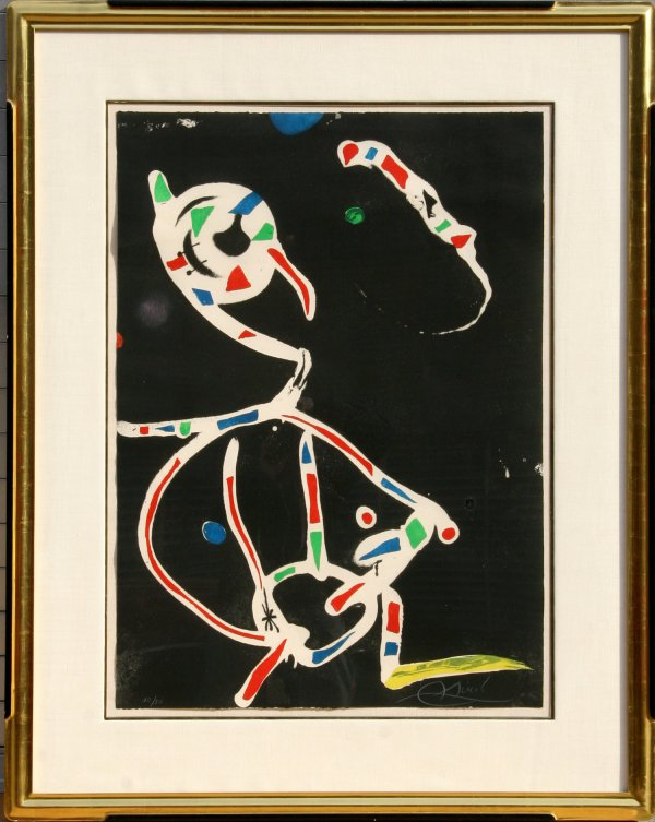 La Traca Iii (fireworks Iii) by Joan Miro