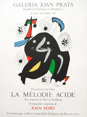 La Mélodie Acide by Joan Miro at Sylvan Cole Gallery