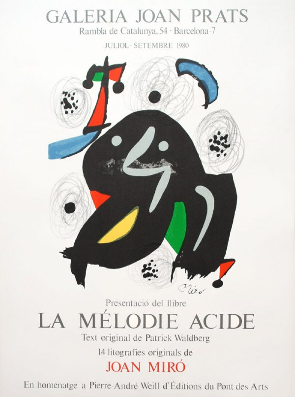 La Mélodie Acide by Joan Miro