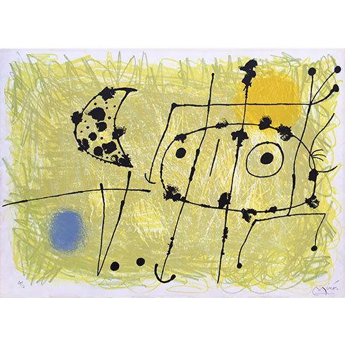 """""""le Lezard Aux Plumes D´or"""" (mourlot 450) by Joan Miro"""