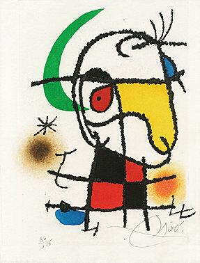 """Le vent parmi les roseaux"""" (William Butler Yeats) by Joan Miro"""