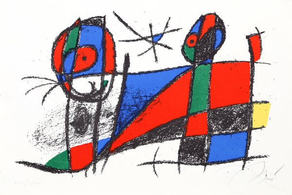 Lithograph Vi (m. 1042) by Joan Miro at