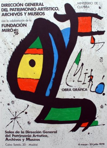 Miró Obra Gráfica by Joan Miro at Sylvan Cole Gallery