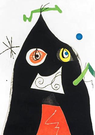 Quatre Colors Aparien El Món Ii by Joan Miro