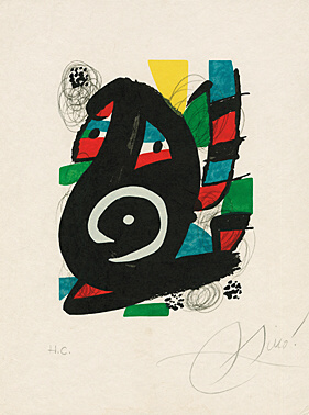 "Sheet 14 Fro ""la Mélodie Acide"" (patrick Waldberg) by Joan Miro"