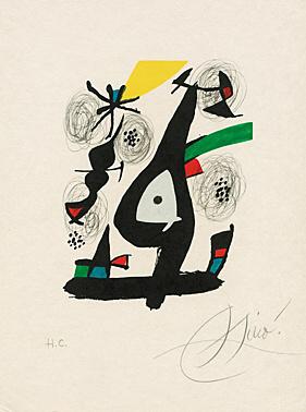 "Sheet 1 From ""la Mélodie Acide"" (patrick Waldberg) by Joan Miro"
