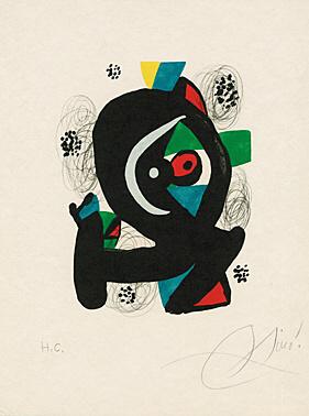 "Sheet 2 From ""la Mélodie Acide"" (patrick Waldberg) by Joan Miro"