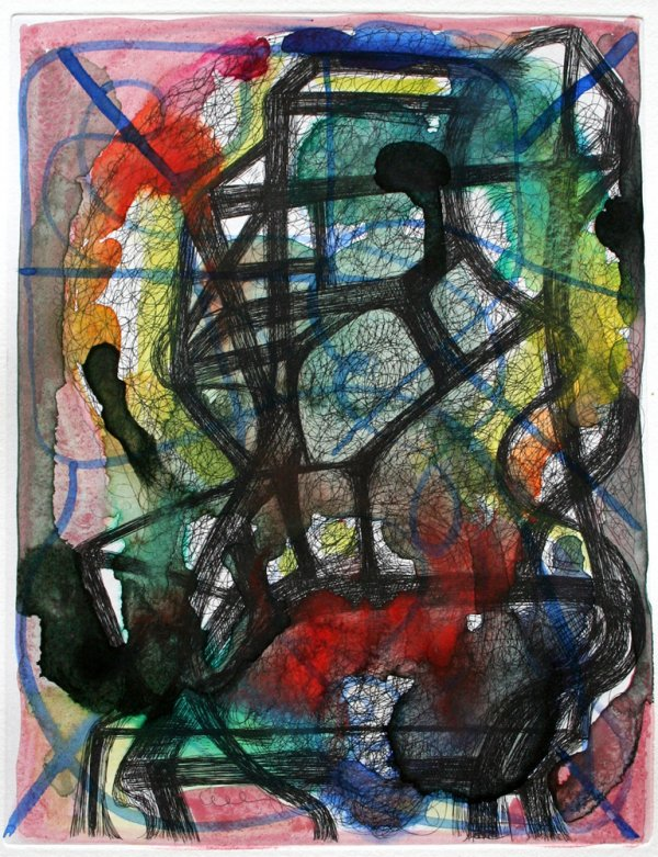 Untitled (handcolored Etching) by Joanne Greenbaum