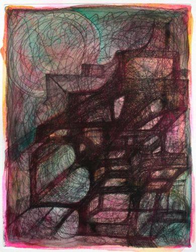 Untitled (handcolored Etching) by Joanne Greenbaum at Joanne Greenbaum