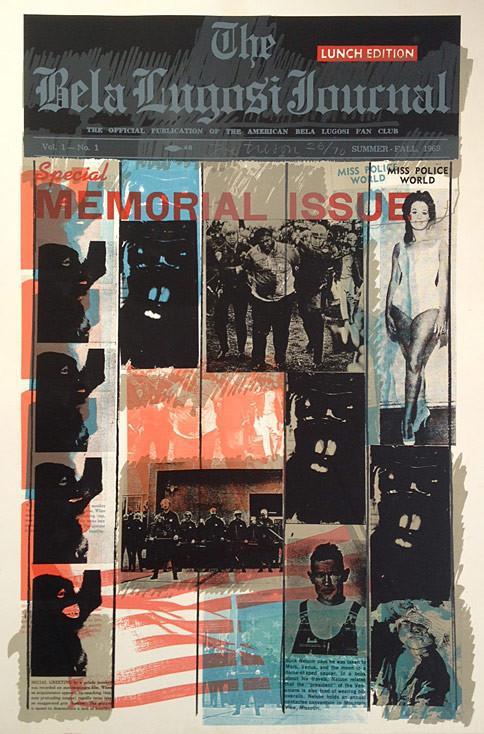 Bela Lugosi Journal B by Joe Tilson