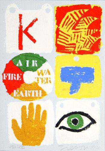 Fire, Air, Water, Earth by Joe Tilson