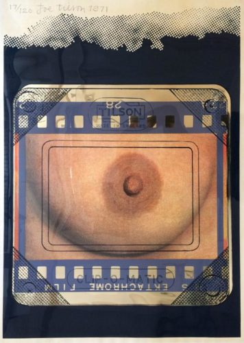 Transparency, Clip-o-matic Breast by Joe Tilson at