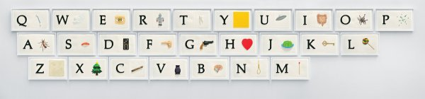 A B C Art (low Relief): A/ant, Etc. (keyboard) by John Baldessari at