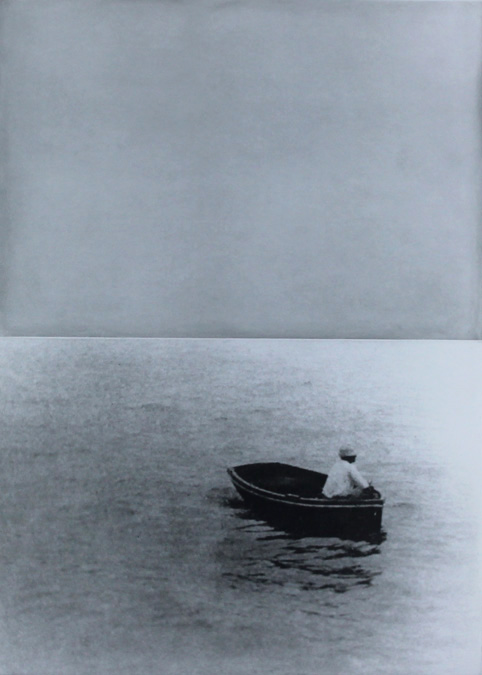Boat (with Figure Standing) by John Baldessari