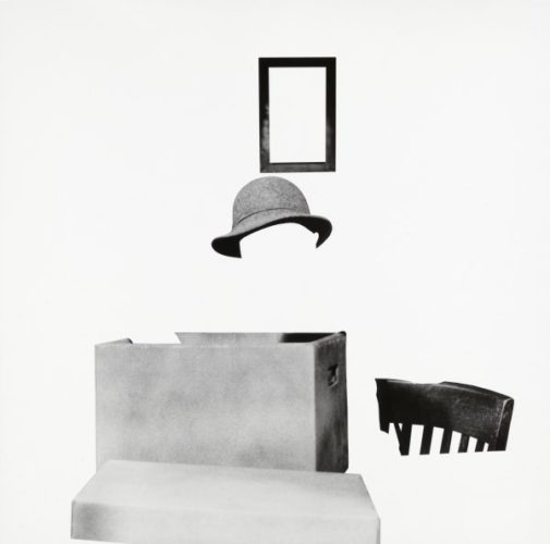 Box, Hat, Frame And Chair by John Baldessari at