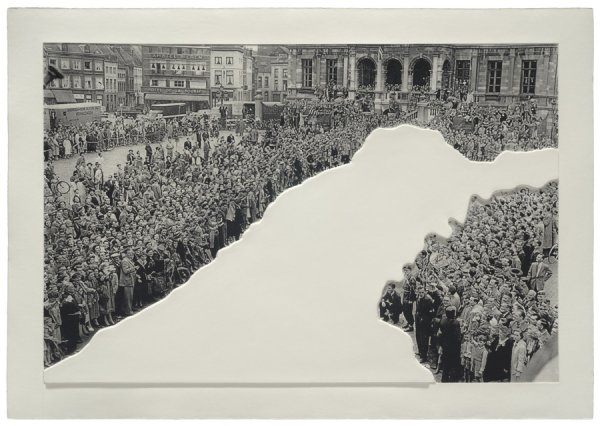 Crowds With Shape Of Reason Missing: Example 1 by John Baldessari at