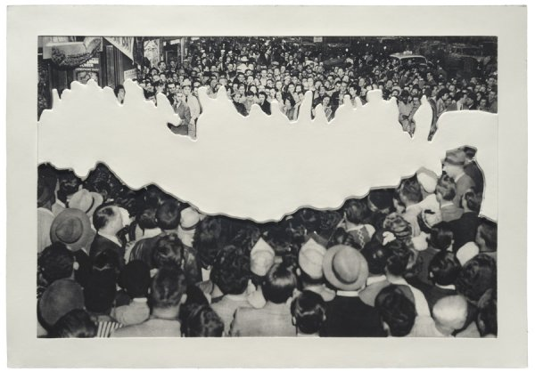 Crowds With Shape Of Reason Missing: Example 2 by John Baldessari at