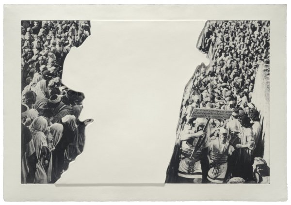 Crowds With Shape Of Reason Missing: Example 3 by John Baldessari at