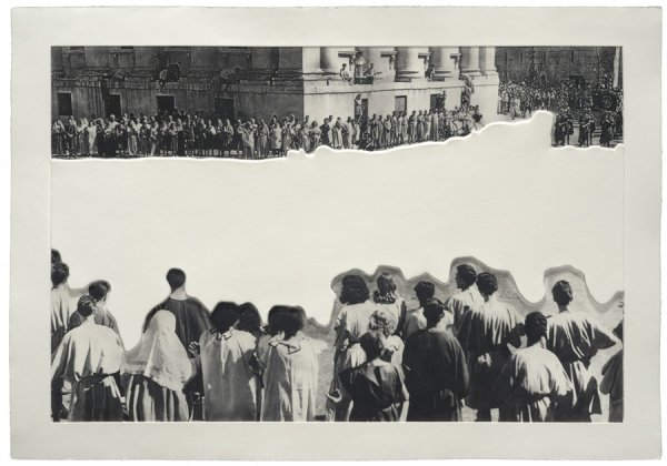 Crowds With Shape Of Reason Missing: Example 4 by John Baldessari