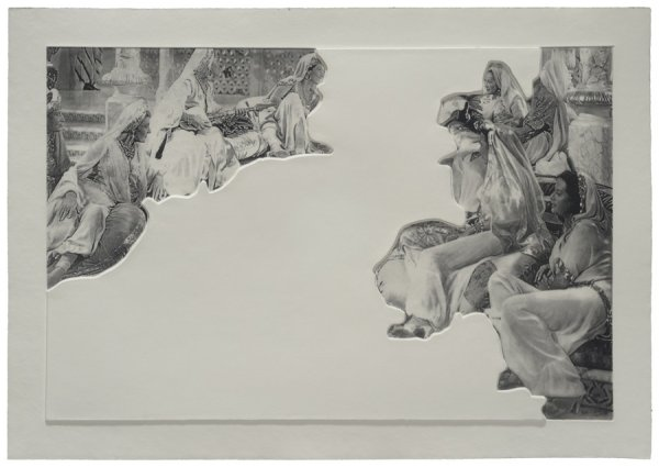 Crowds With Shape Of Reason Missing: Example 5 by John Baldessari at