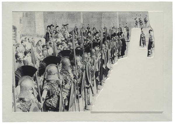 Crowds With Shape Of Reason Missing: Example 6 by John Baldessari