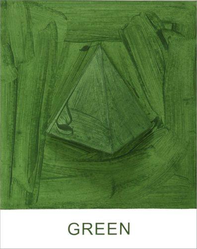 Eight Colorful Inside Jobs: Green by John Baldessari at