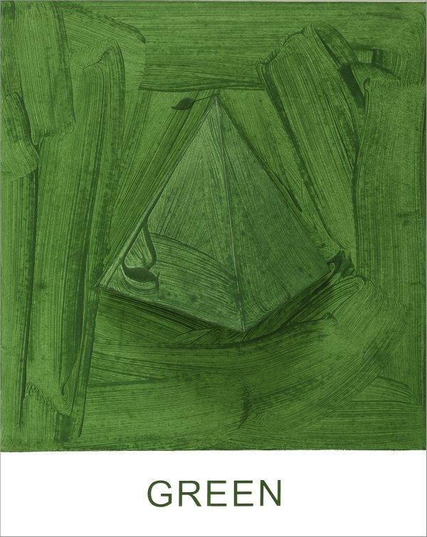 Eight Colorful Inside Jobs: Green by John Baldessari