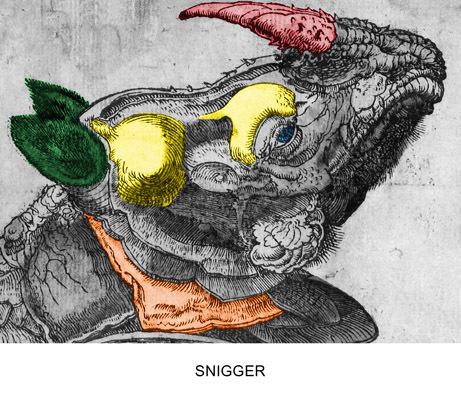 Engravings With Sounds: Snigger by John Baldessari at John Baldessari