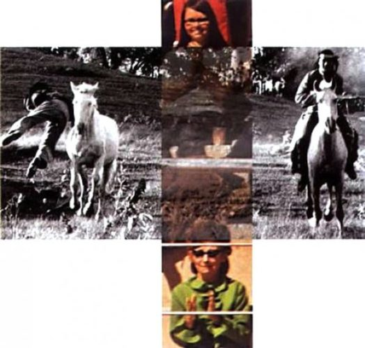 Person On Horse And Person Falling From Horse by John Baldessari