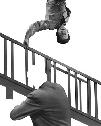 Stairway, Coat And Person by John Baldessari at