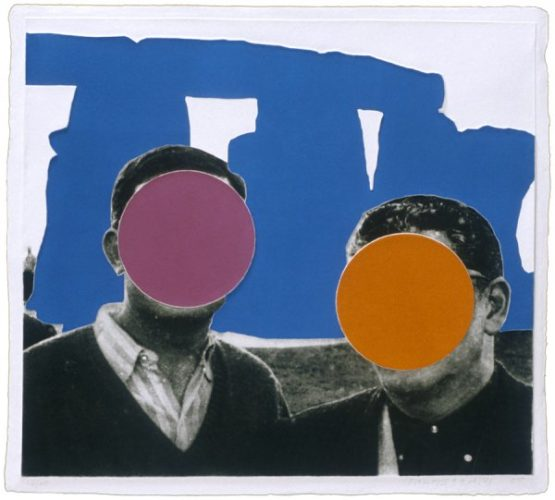 Stonehenge (with Two Persons) Blue by John Baldessari at