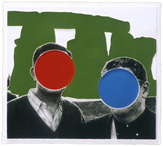 Stonehenge (with Two Persons) Green by John Baldessari at