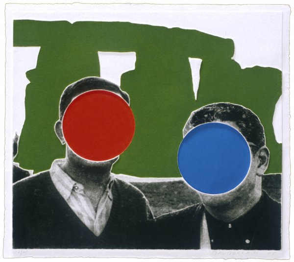 Stonehenge (with Two Persons) Green by John Baldessari