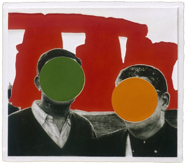 Stonehenge (with Two Persons) Red by John Baldessari