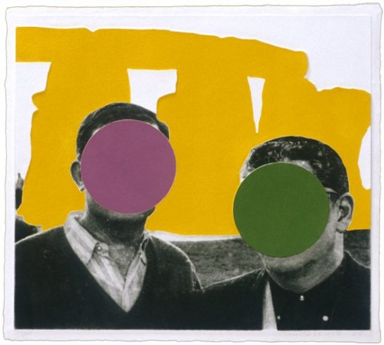 Stonehenge (with Two Persons) Yellow by John Baldessari at John Baldessari