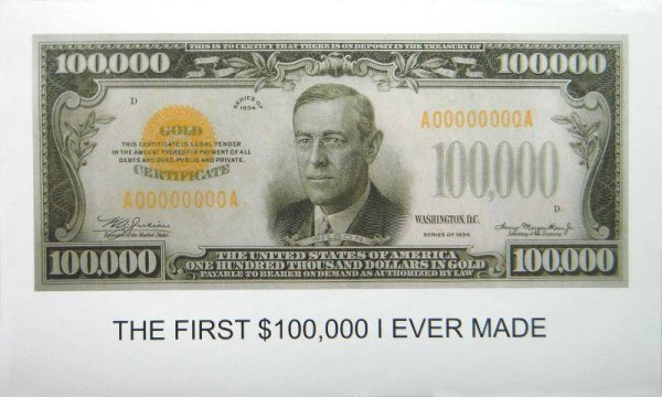 The First $100,000 I Ever Made by John Baldessari at John Baldessari