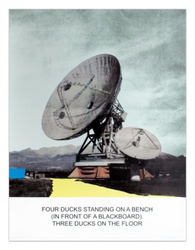 The News: Four Ducks Standing On A Bench… by John Baldessari