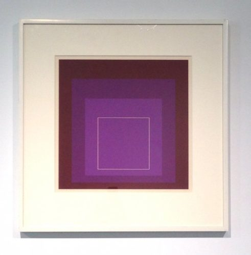 White Line Square Xi by Josef Albers