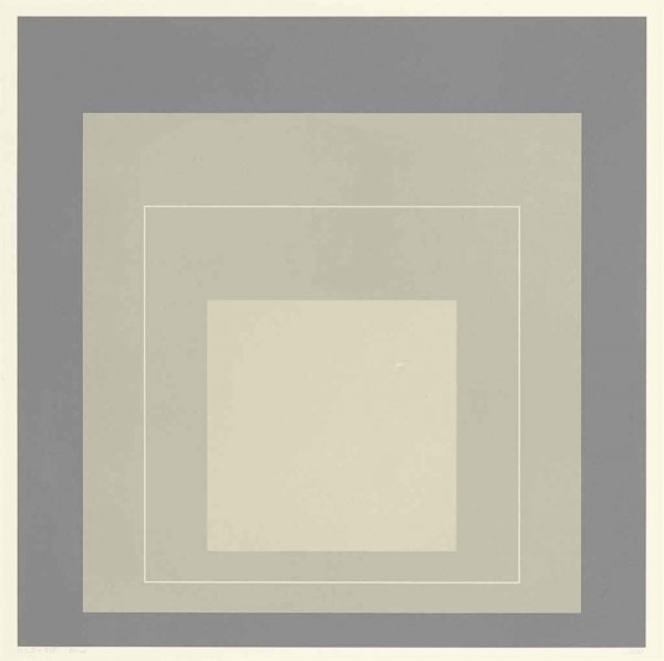 White Line Squares (series Ii), Xiv by Josef Albers