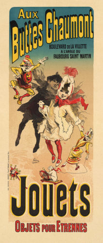 Aux Buttes Chaumont, Jouets by Jules Cheret at