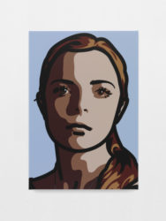 Lily, Eyes Straight, Head Left by Julian Opie at Krakow Witkin Gallery (IFPDA)