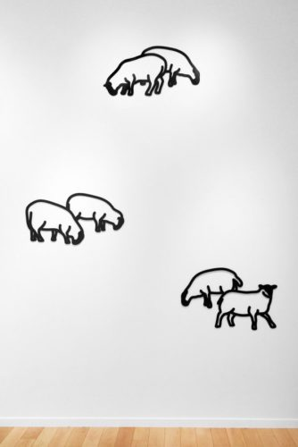 Nature 1 – Sheep by Julian Opie at Jonathan Novak Contemporary Art