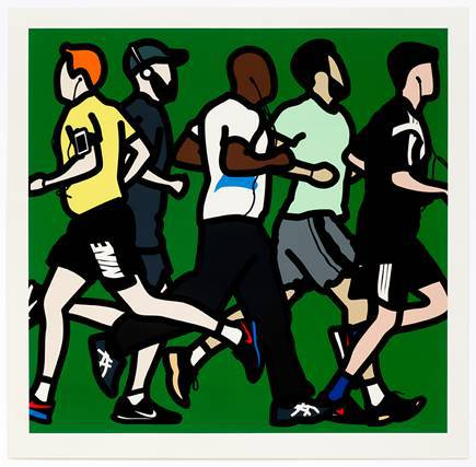 Runners, Running Men by Julian Opie